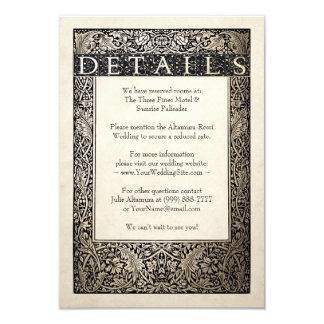 Efeu-Sammlung der Hochzeits-Einzelkarten-| Karte