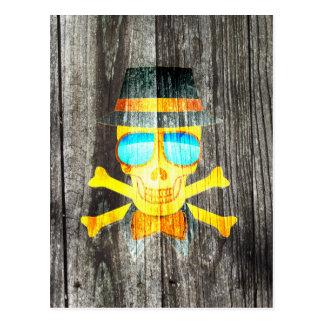 Effet d'arrière - plan gris en bois de crâne de carte postale
