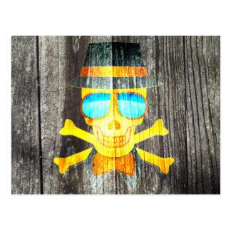 Effet d'arrière - plan gris en bois de crâne de cartes postales