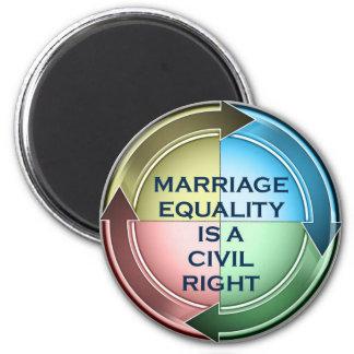 Égalité de mariage magnets pour réfrigérateur