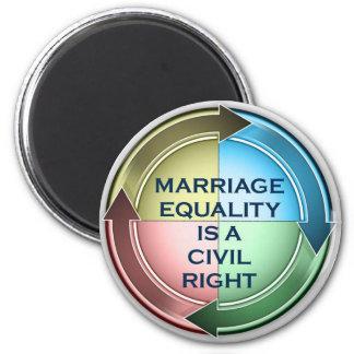 Égalité de mariage magnet rond 8 cm