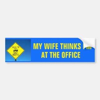 Ehefrau denkt, dass ich (füllen Sie den freien Autoaufkleber