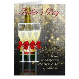 Ehemann - der Vatertags-Karte - Champagne-Toast Grußkarte