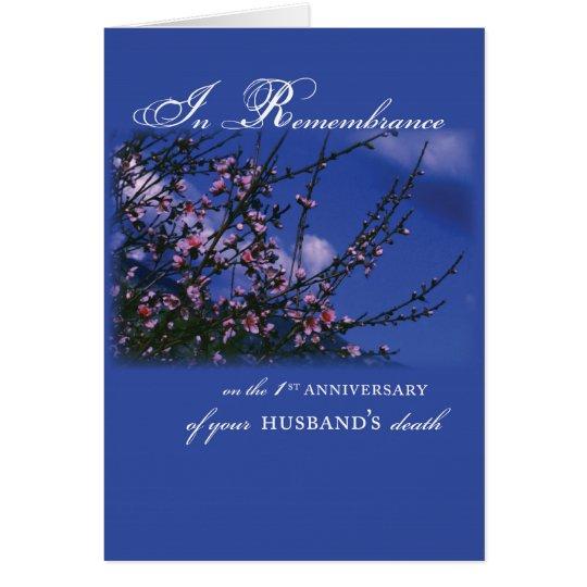 Ehemann, Erinnerungs-1. Jahrestag Grußkarte