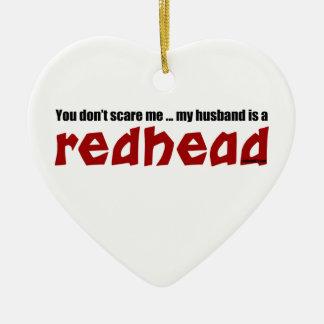 Ehemann ist ein Redhead Keramik Herz-Ornament