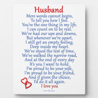 Ehemann-Liebe Fotoplatten