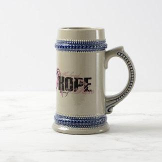 Ehemann mein Held - Brustkrebs-Hoffnung Bierglas