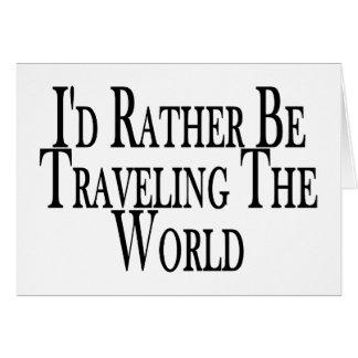 Eher reist die Welt Karte