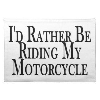 Eher reitet mein Motorrad Stofftischset