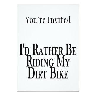 Eher reitet mein Schmutz-Fahrrad Karte