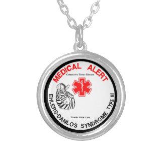 Ehlers Danlos Art 3 medizinischer Alarm Halskette Mit Rundem Anhänger