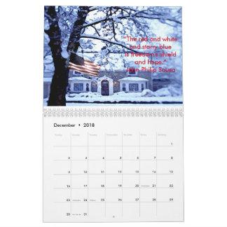 Ehren unseres Kalenders der Flagge-2018 Kalender