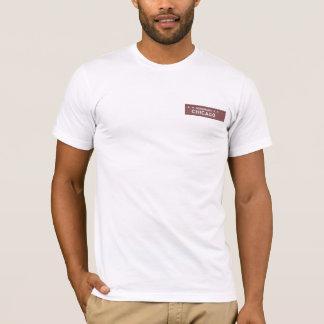 Ehrenchicago-Straßen-Zeichen-Shirt T-Shirt