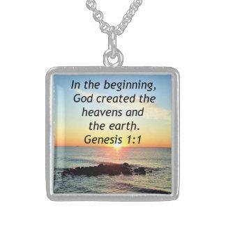 EHRFURCHT-INSPIRIEREN DES GENESE-1:1 STERLING SILBERKETTE