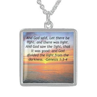 EHRFURCHT-INSPIRIEREN DES GENESE-1:3 STERLING SILBERKETTE