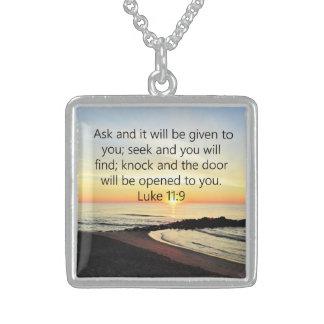 EHRFURCHT-INSPIRIEREN DES LUKE-11:9 STERLING SILBERKETTE