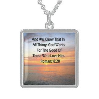 EHRFURCHT-INSPIRIEREN DES RÖMER-8:28 STERLING SILBERKETTE