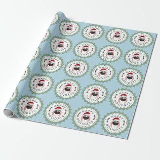 Ei-Geschenk-Verpackungs-Blau glückliche Geschenkpapierrolle