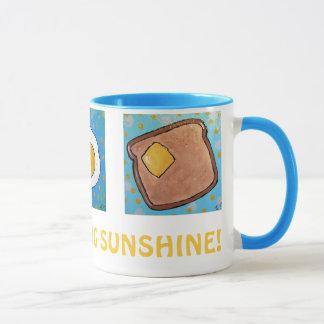 Ei, Toast, Krapfen - TASSE Sonnenschein des guten