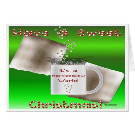Eibisch-Weihnachtskarte Karte