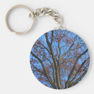 Eiche in einem blauen Herbst-Himmel - Schlüsselanhänger