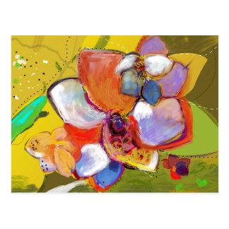 Eichel-und Blumen-Postkarte Postkarte