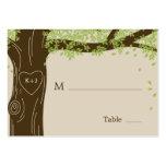 Eichen-Baum, der flache Platzkarten Wedding ist Visitenkarten Vorlagen