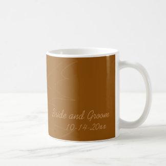 Eichen-Blatt-Herbst-Hochzeits-Kaffee-Tasse