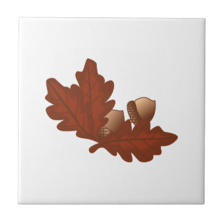 Eichen-Blätter Kleine Quadratische Fliese