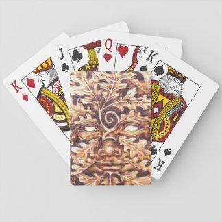 Eichen-grüne Frauen-Spielkarten Spielkarten