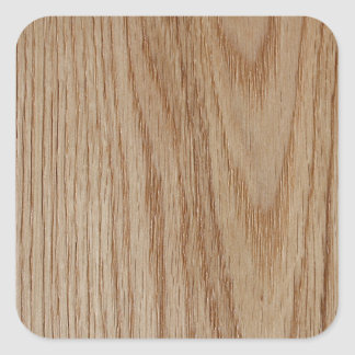 Eichen-Holz-Korn-Blick Quadratischer Aufkleber