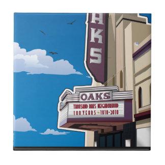 Eichen-Theater auf Solano Allee in Berkeley, CA Kleine Quadratische Fliese