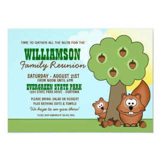 Eichhörnchen-Familien-Wiedersehen-Einladungen 12,7 X 17,8 Cm Einladungskarte