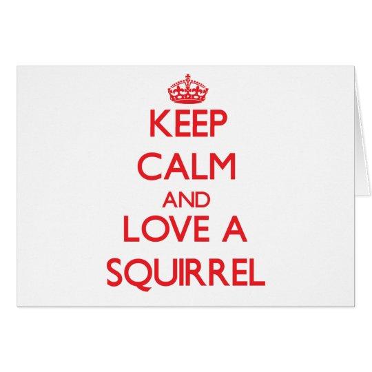 Eichhörnchen Grußkarte