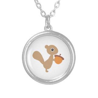 Eichhörnchen-Halskette Versilberte Kette