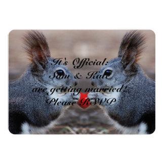 Eichhörnchen Liebe-in der niedlichen 12,7 X 17,8 Cm Einladungskarte