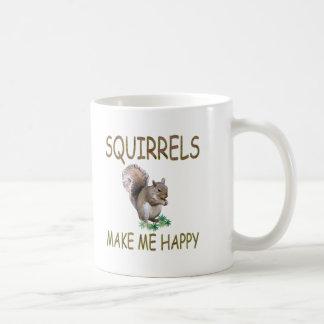 Eichhörnchen machen mich glücklich kaffeetasse