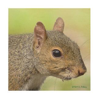 Eichhörnchen-Profil-Holz-Grafik Holzwanddeko