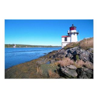 Eichhörnchen-Punkt-Leuchtturm, Maine-Foto-Druck Fotodruck