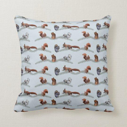 Eichhörnchen-Raserei-Kissen (hellblau) Kissen