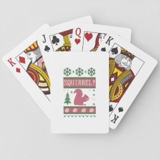 Eichhörnchen-Weihnachten Pokerdeck