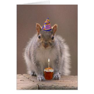 Eichhörnchengeburtstagskarte Grußkarte