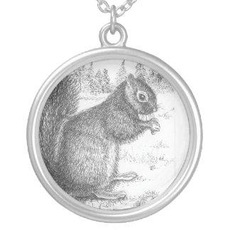 EichhörnchenLocket Versilberte Kette