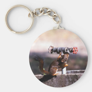 Eichhörnchentrinken Standard Runder Schlüsselanhänger