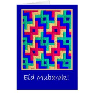 Eid Karte - islamische Entwurfs-Steppdecke Grußkarte