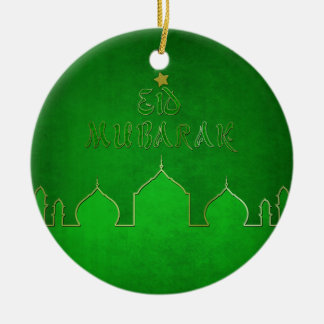 Eid Mubarak grünes Goldmoschee - Verzierung Keramik Ornament