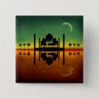 Eid Mubarak Nachtreflexion - Knopf Quadratischer Button 5,1 Cm