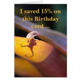 Eidechse rettete 15 Prozent Karte