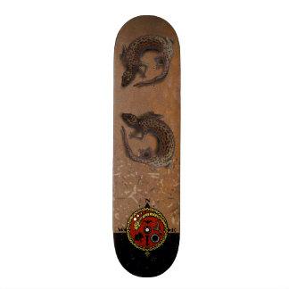 EIDECHSEN-KOMPASS-ROST durch Slipperywindow Individuelles Skateboard