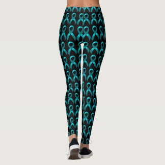 Eierstock zervikales aquamarines Band des Krebs-| Leggings